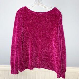 LOFT Pink Chenille Sweater
